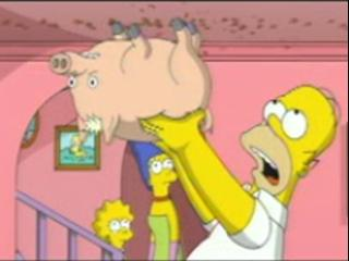 Simpsons Movie Scene: Spider Pig