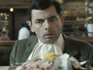 MR. BEAN'S HOLIDAY: BEAN EATS LANGOUSTINE