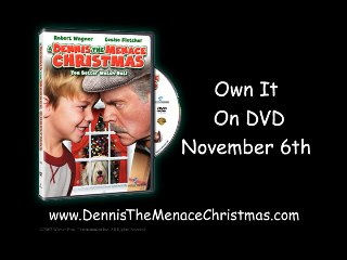 A Dennis The Menace Christmas Scene Mr Wilsons Secret Santa Surprise