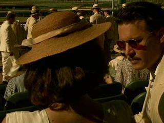 Public Enemies Dillinger Reassures Billie At The Racetrack