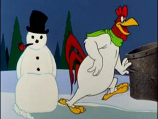 looney tunes super stars foghorn leghorn friends snowman clip