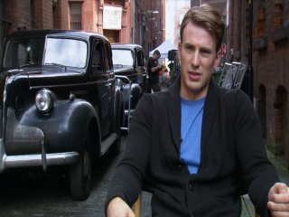 Captain America The First Avenger Chris Evans-on Director Joe Johnston