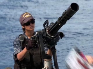 Battleship On The Set On The Barge Featurette