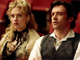 Hugh and Scarlett in The Prestige