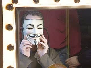 V FOR VENDETTA SCENE: FILMING
