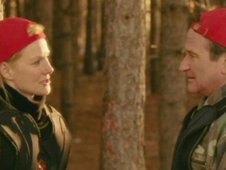 MAN OF THE YEAR SCENE: DOBBS AND ELENOR TALK IN THE WOODS