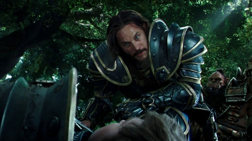 Warcraft: Lothar And His Soldiers Are Attacked By Orcs In The Woods