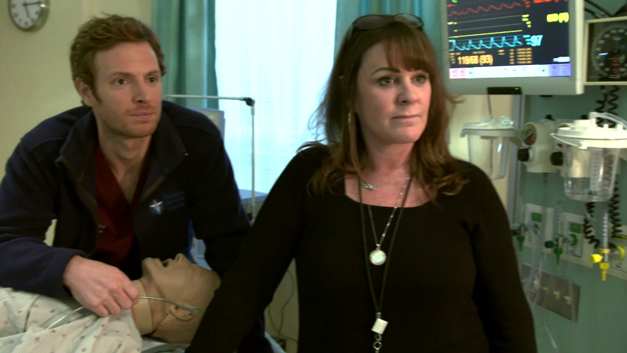 Chicago Med: One Chicago Day: Nick Gehlfuss And Bobbin Bergstrom, On-Set Medical Technical Advisor