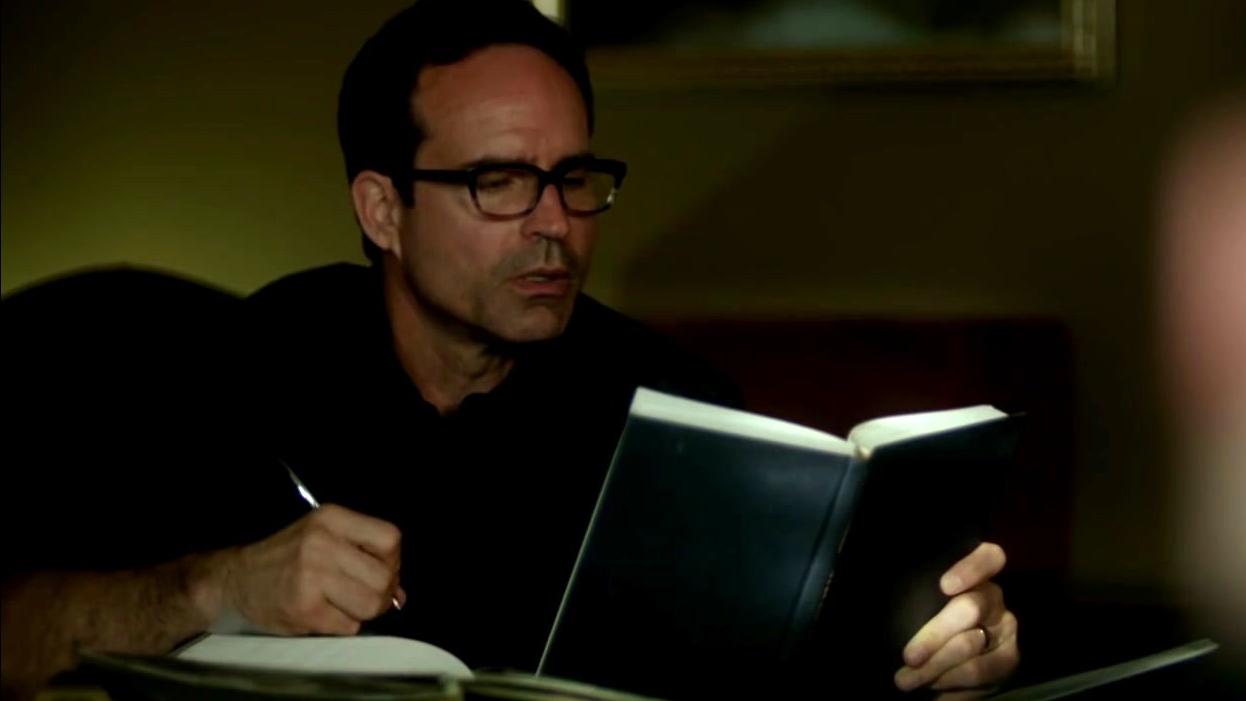 Wayward Pines: Jason Talks To Theo About Adam