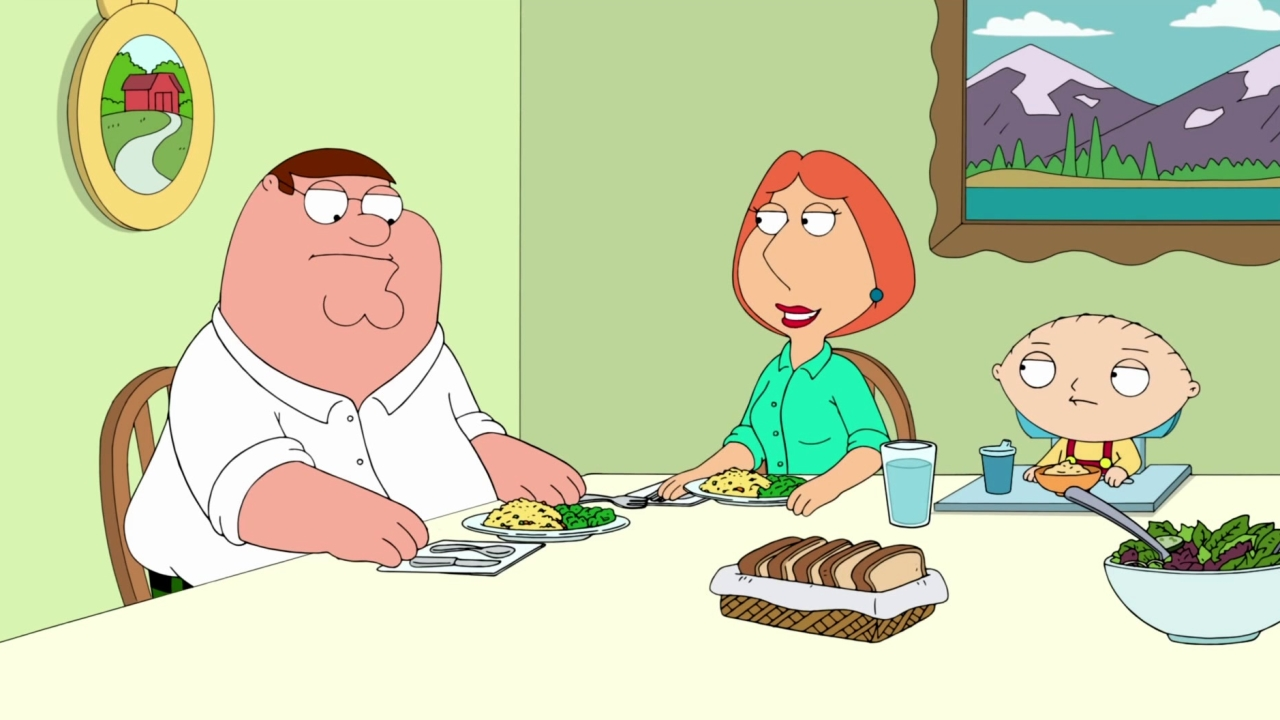Family Guy: Lois Serves The Family A Healthy Dinner