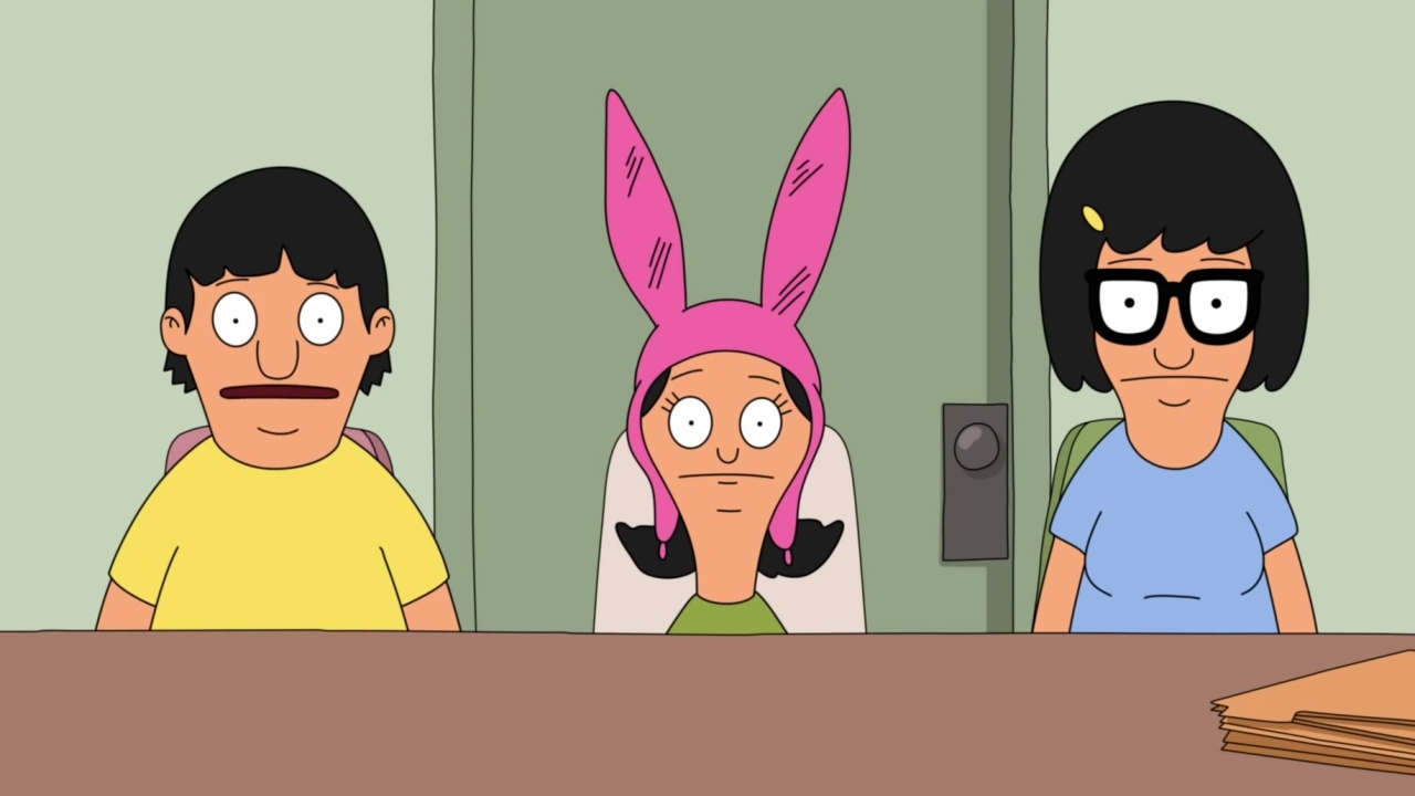 Bob's Burgers: Louise, Tina, And Gene Pitch Their Play Idea To Mr. Frond