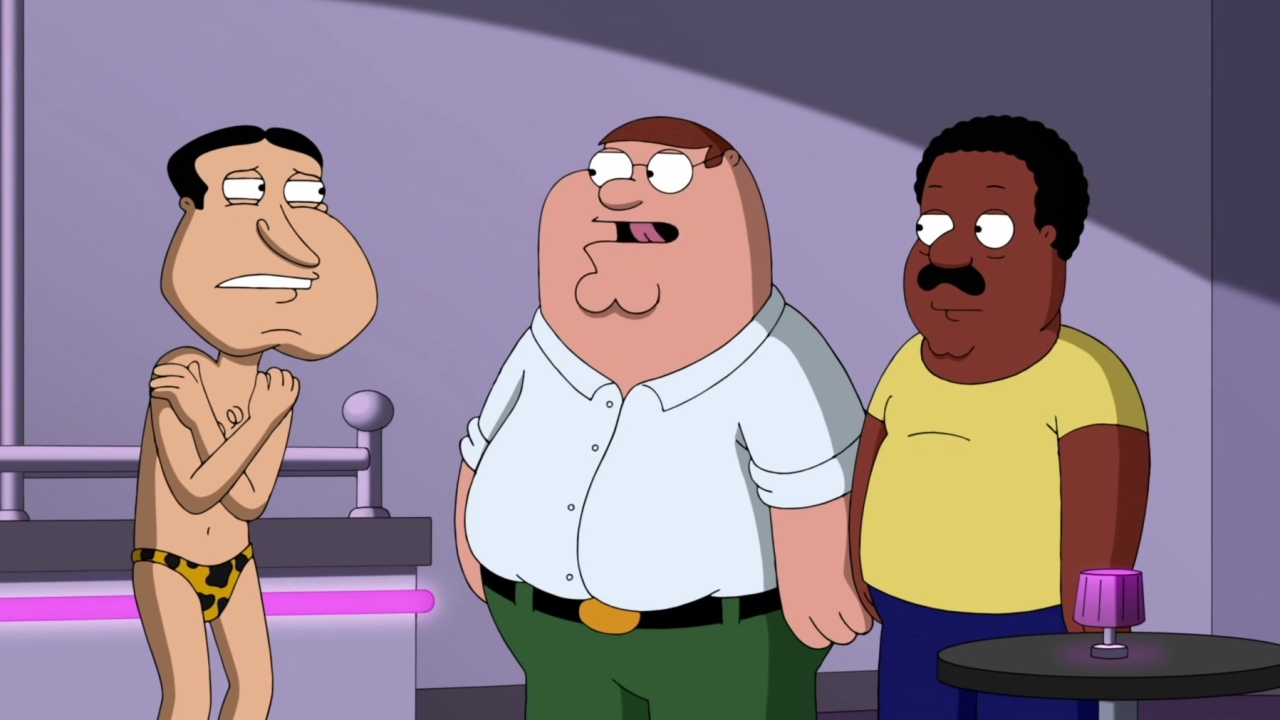 Family Guy: The Guys Catch Quagmire Dancing At A Strip Club