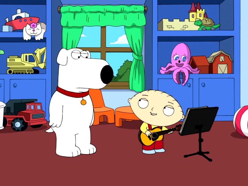Family Guy: Stewie Plays His New Song For Brian