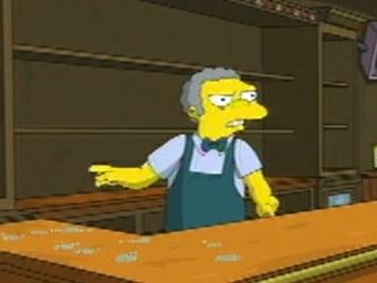 Simpsons Movie Scene: Lights At Moe's