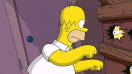 Simpsons Movie Scene: Chainsaw Gag