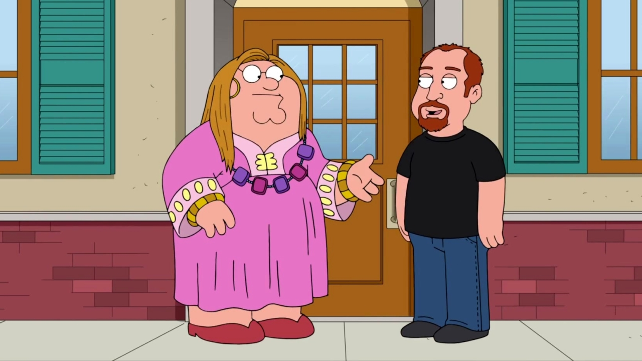 Family Guy: Peter Bumps Into Louis C.K.