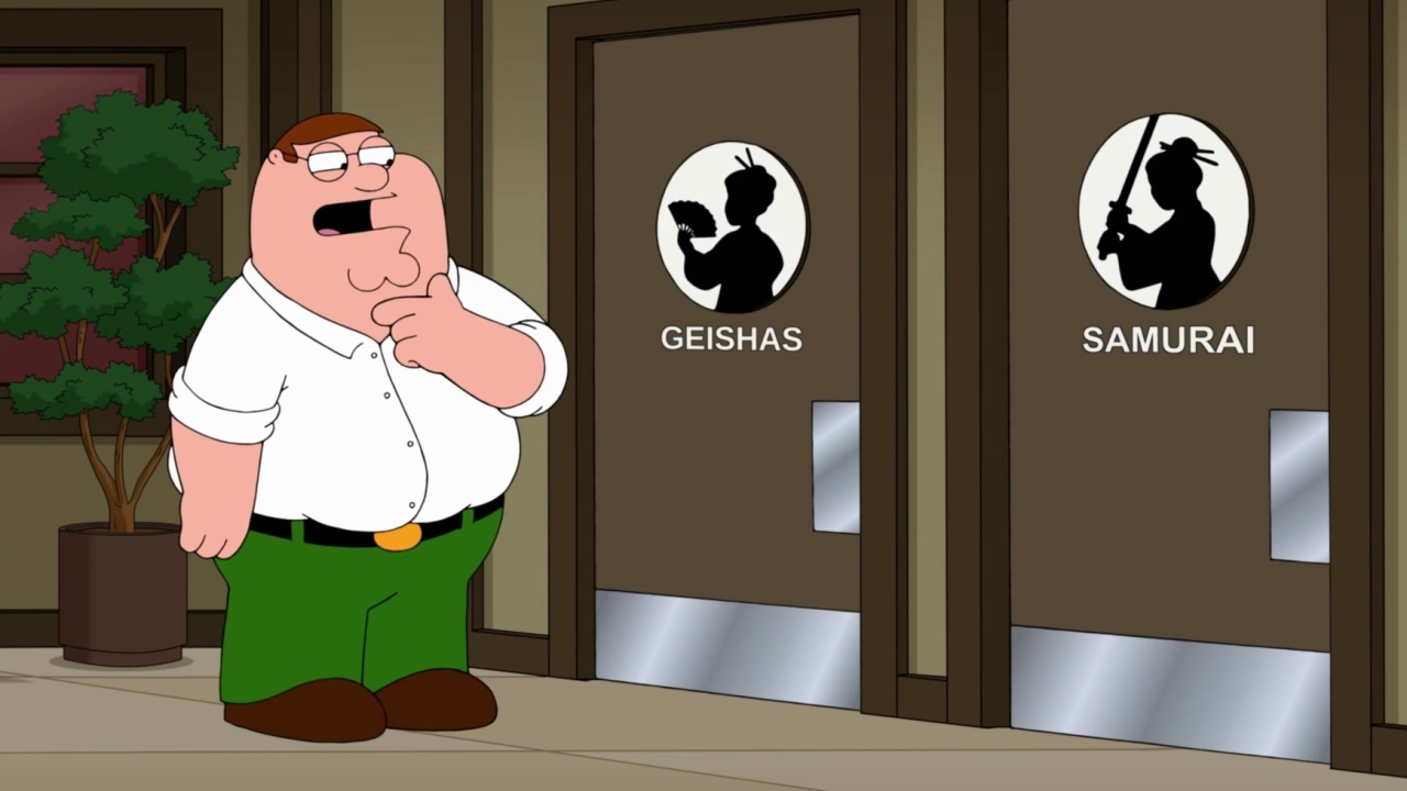 Family Guy: Peter Tries To Decide Which Restroom To Use