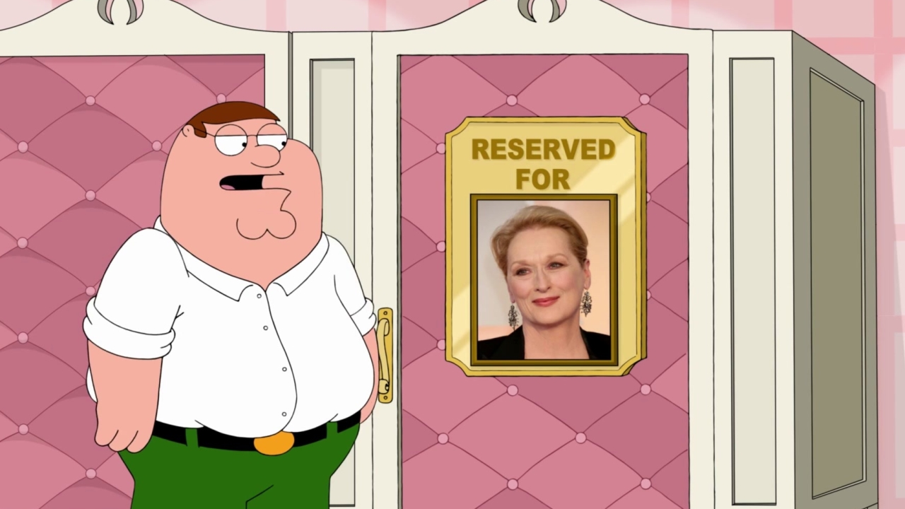 Family Guy: Peter Uses Meryl Streep's Restroom