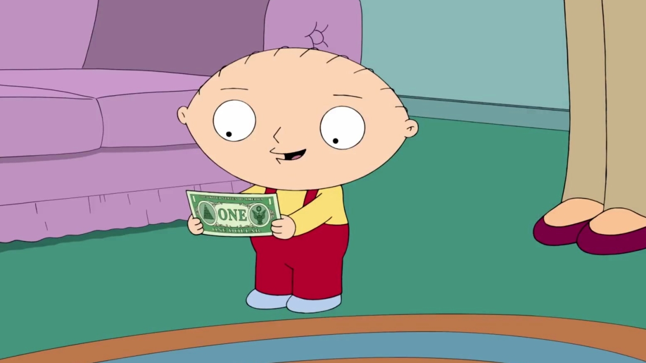 Family Guy: Stewie Takes The Dollar His Grandfather Gave Chris