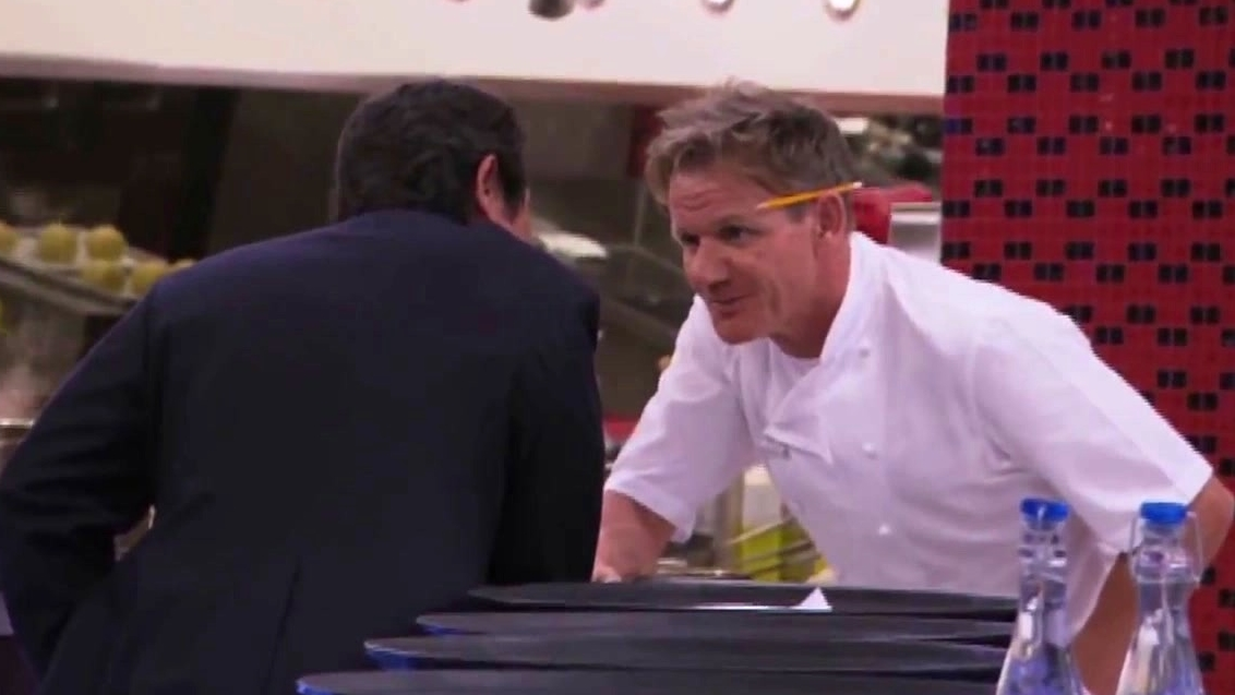 Hell's Kitchen: Lou Diamond Phillips Greets Chef Ramsay