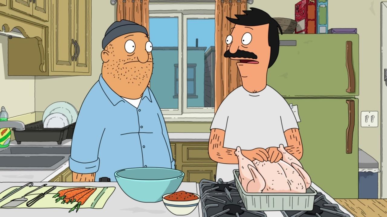 Bob's Burgers: Bob & Teddy Rub The Thanksgiving Turkey