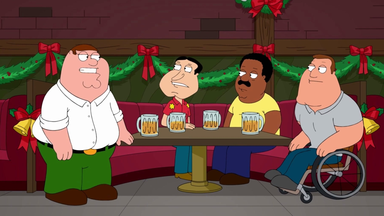 Family Guy: Christmas Carolers Make Their Way Into The Bar