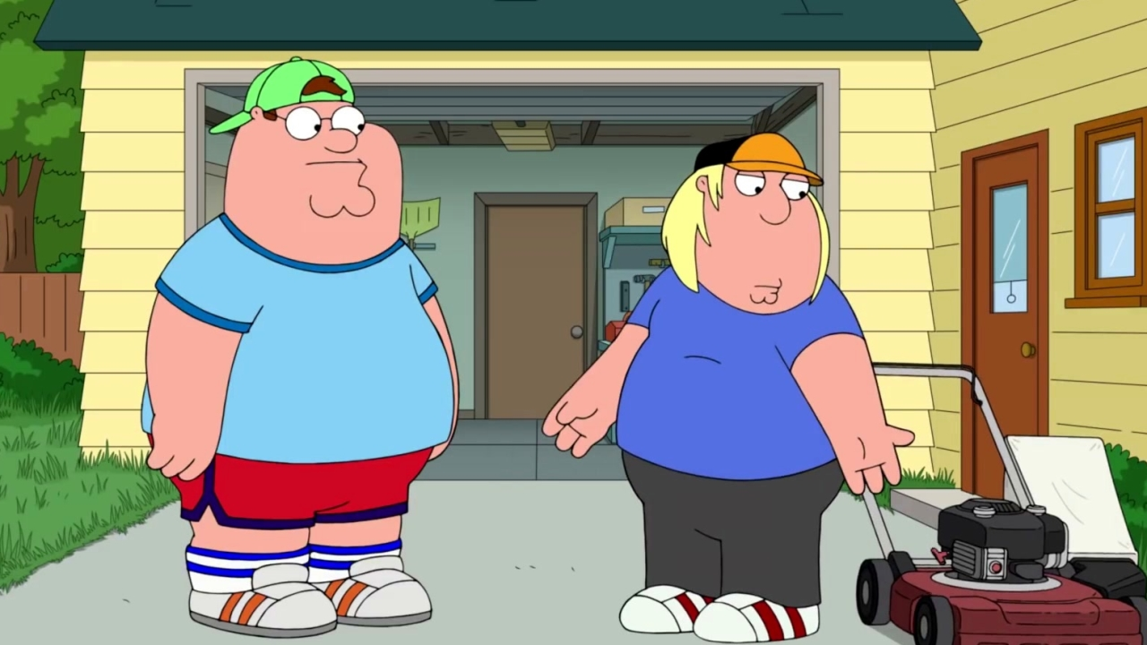 Family Guy: Peter Teaches Chris How To Mow The Lawn
