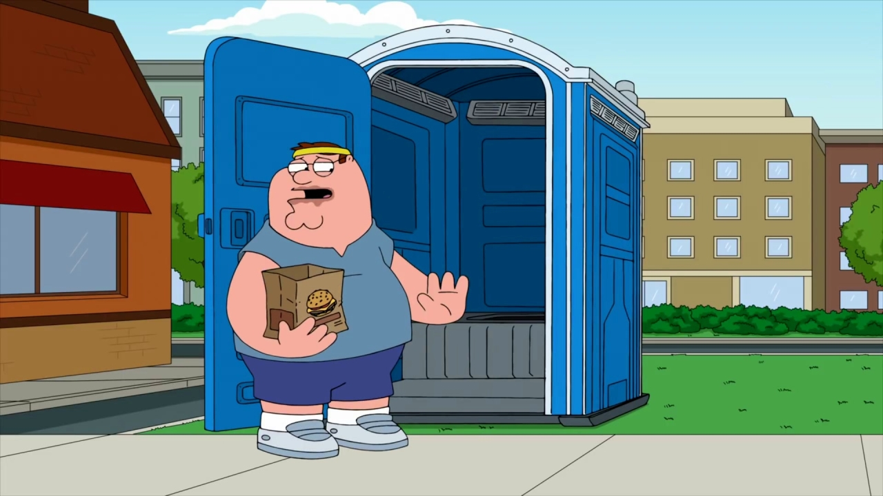 Family Guy: Peter Uses The Porta Potty
