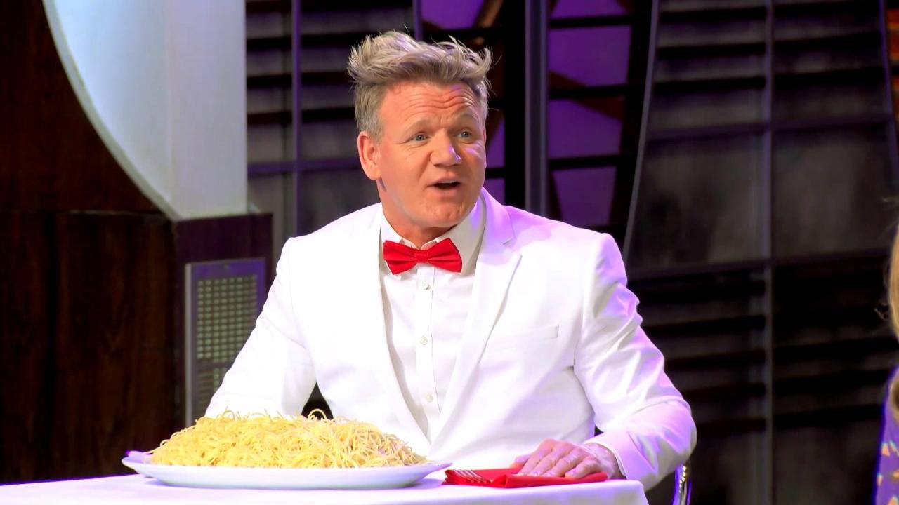 Masterchef Junior: Aaron Gets Dumped With Pesto Sauce