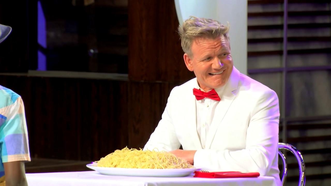 Masterchef Junior: Gordon Gets Dumped With Marinara Sauce