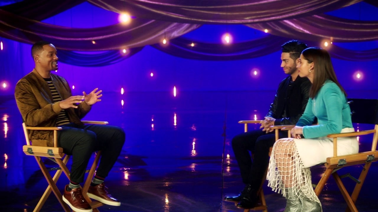 Aladdin: Will Smith, Mena Massoud, Naomi Scott On Will Interviewing Mena & Naomi