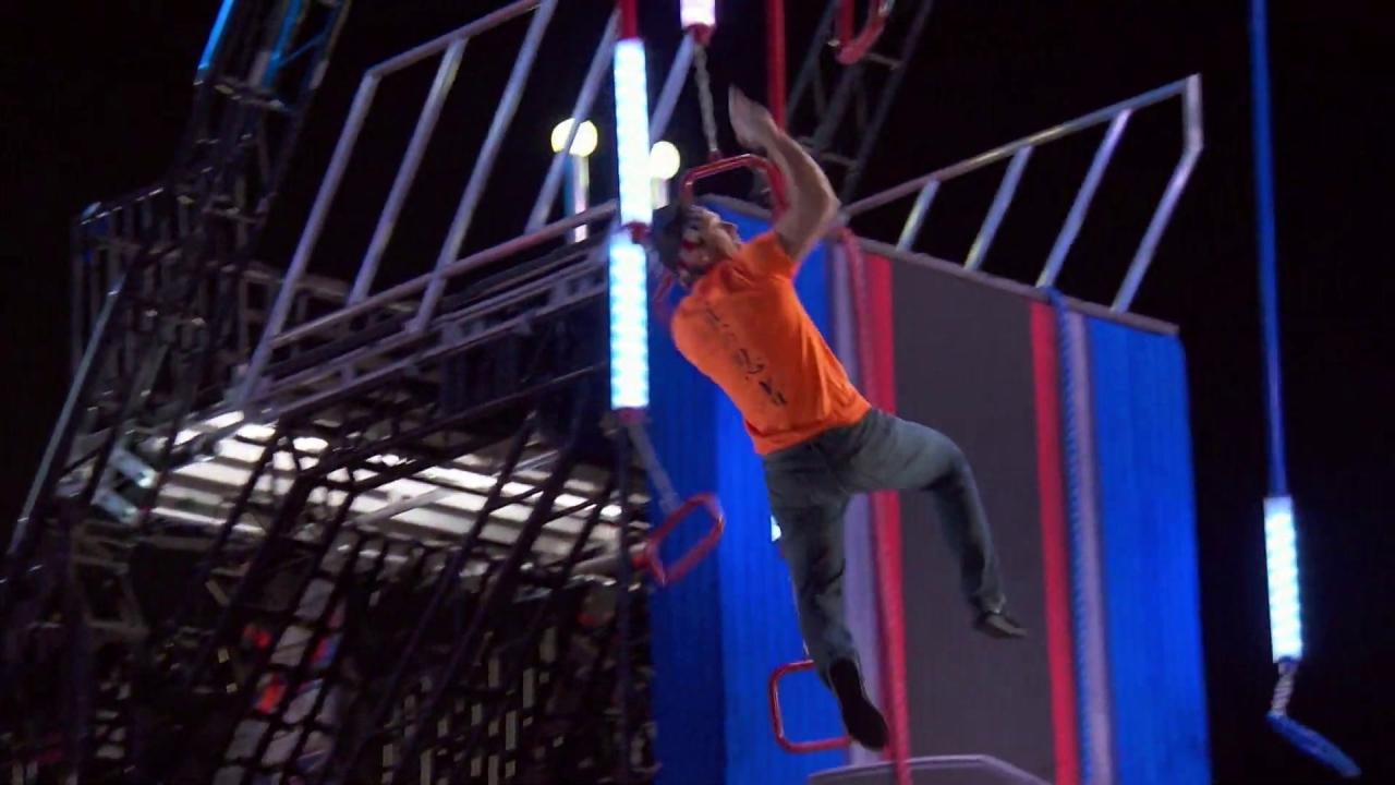 American Ninja Warrior: Drew Drechsel Vs. Kevin Carbone On The Power Tower
