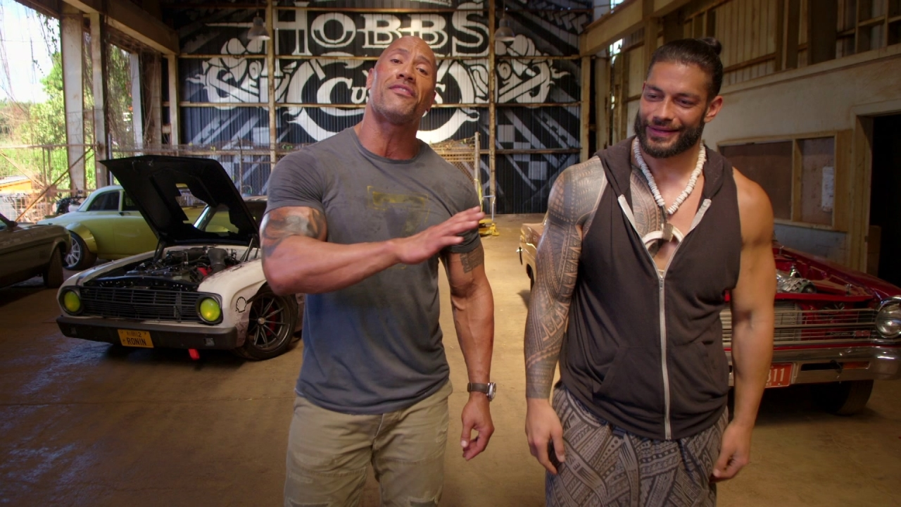 Fast & Furious Presents: Hobbs & Shaw: Roman Nails Cam Op (Featurette)