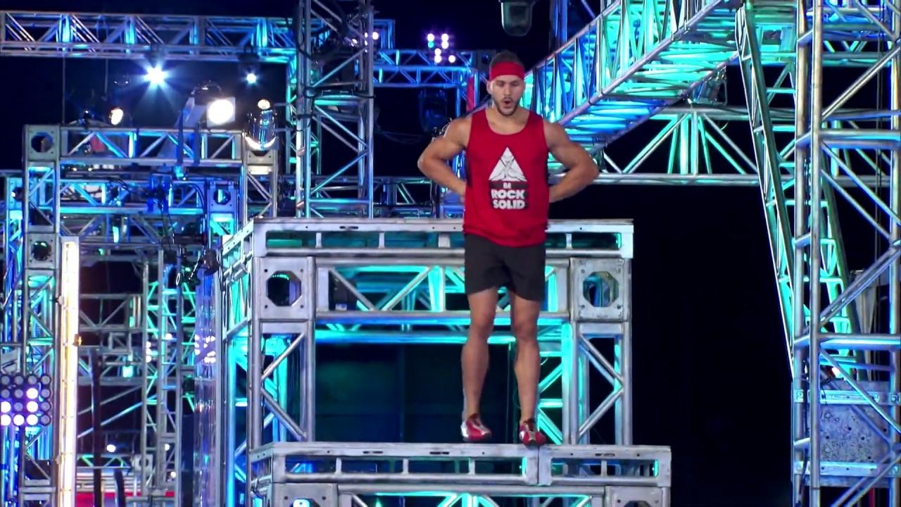 American Ninja Warrior: Adam Rayl's Explosive Stage 1 Run