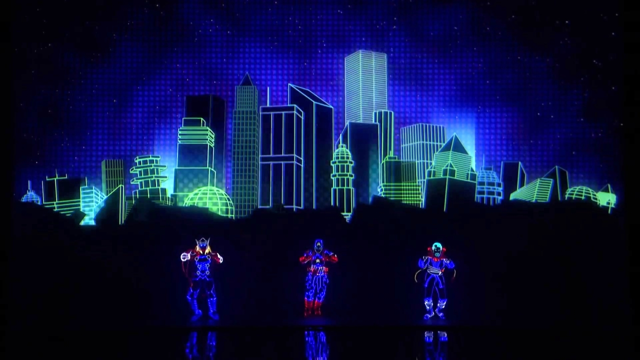 America's Got Talent: Light Balance Kids Performs As Marvel Characters