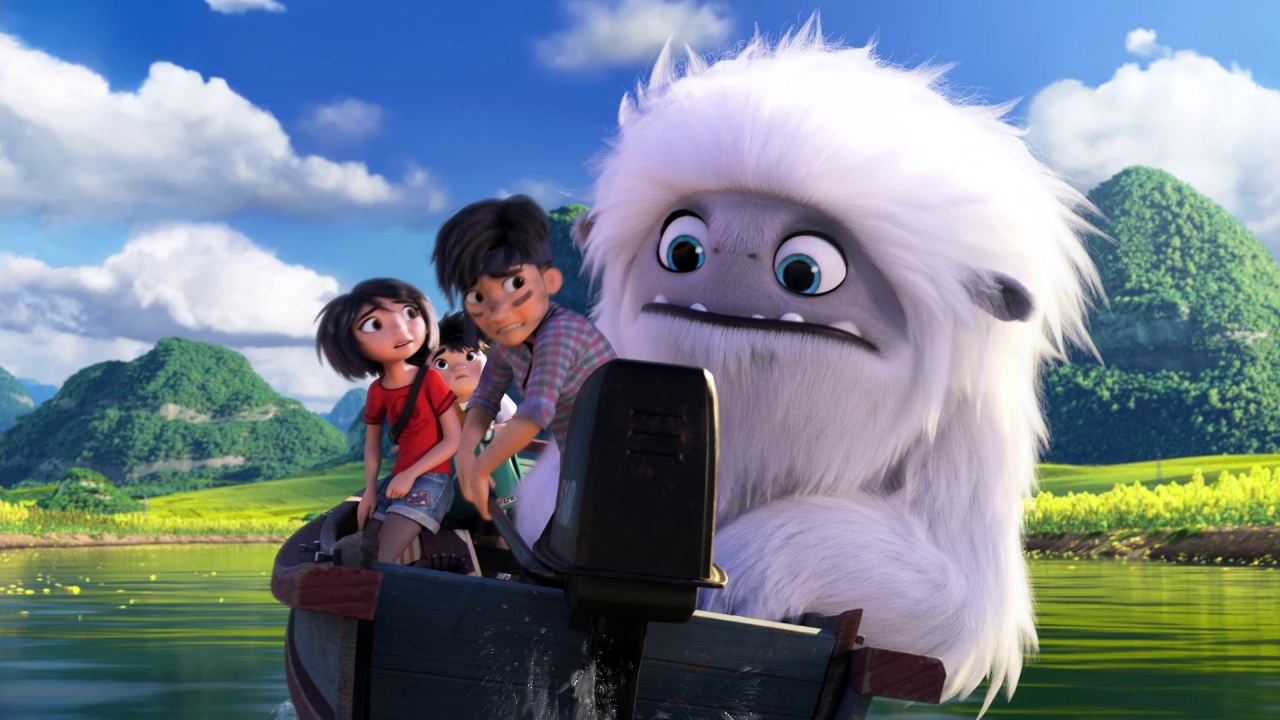 Abominable: Everest And The Kids Surf A Field Of Flowers