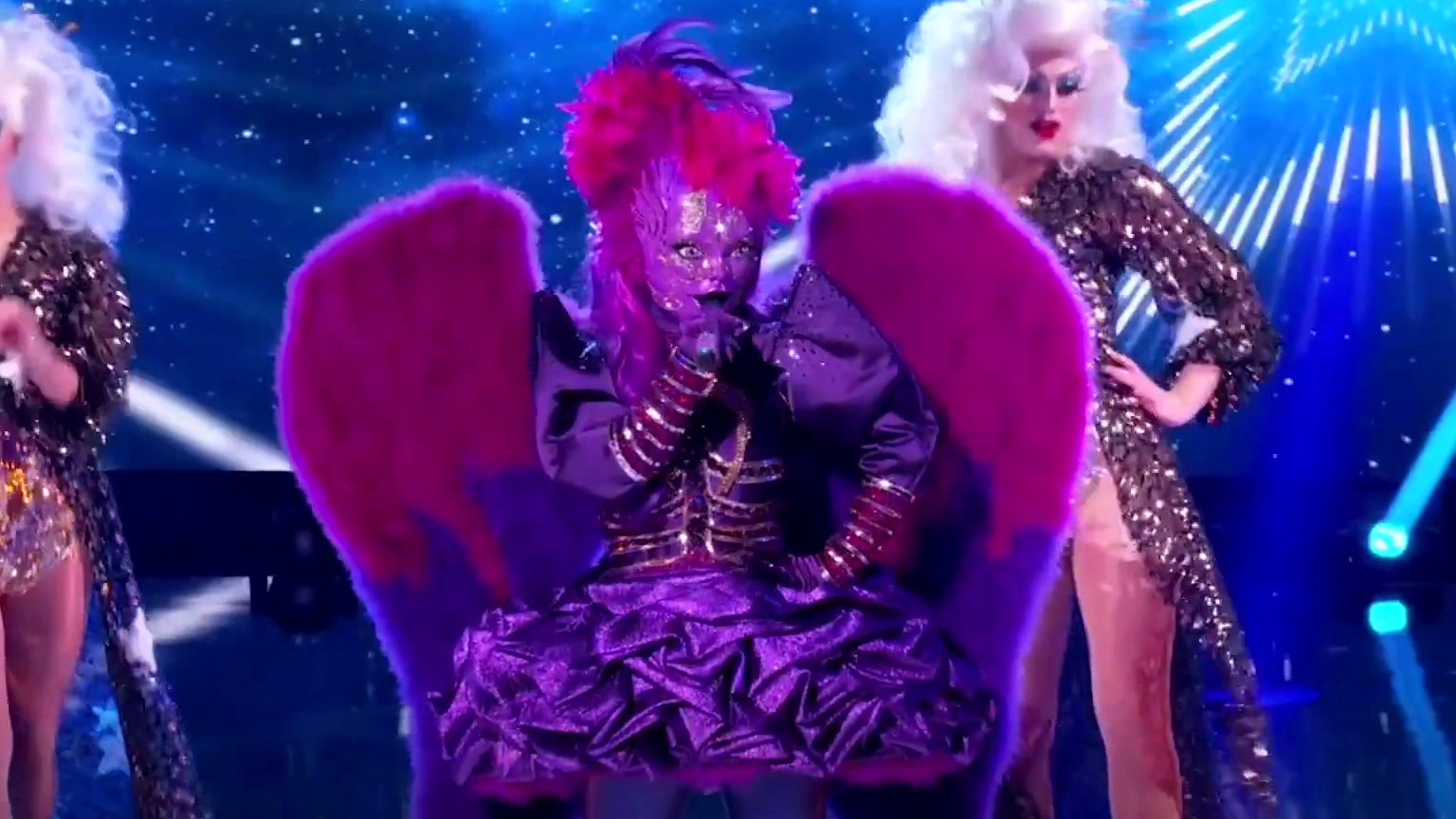 The Masked Singer: Night Angel Performs Man! I Feel Like A Woman!