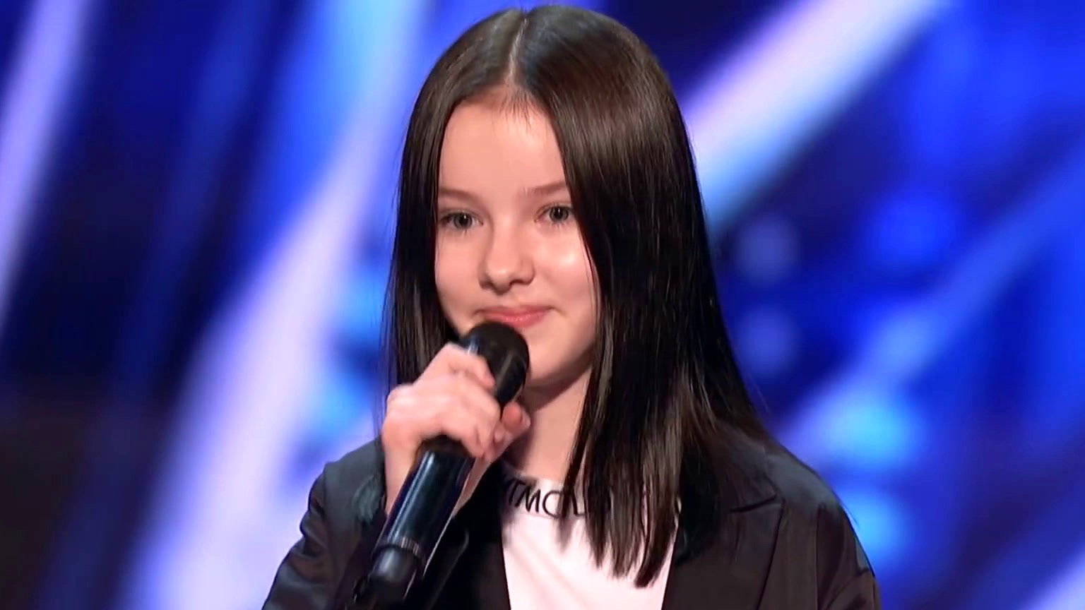 America's Got Talent: Thirteen-Year-Old Daneliya Tuleshova Sings Tears Of Gold