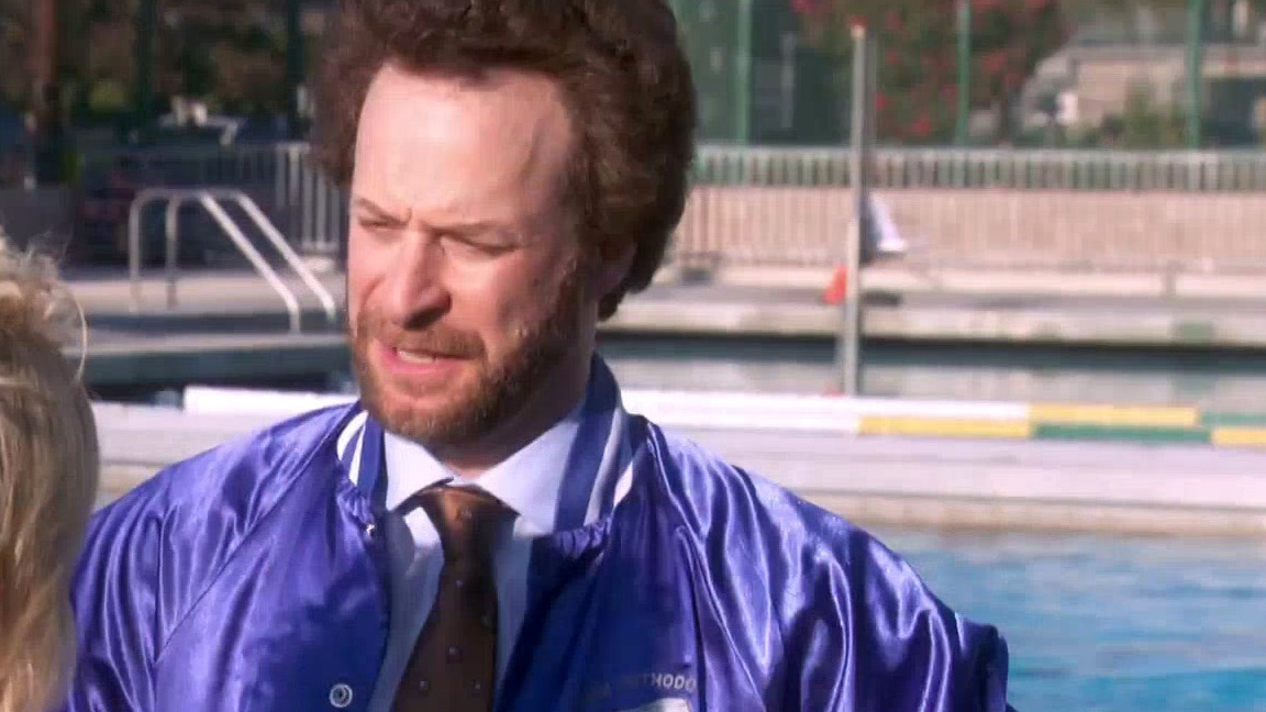 Parks And Recreation: Tom Pushes Jamm Into A Pool To Save Leslie