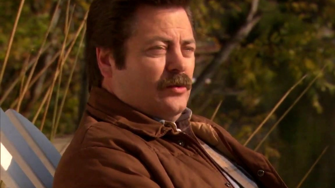 Parks And Recreation: Ron Gives Leslie Advice