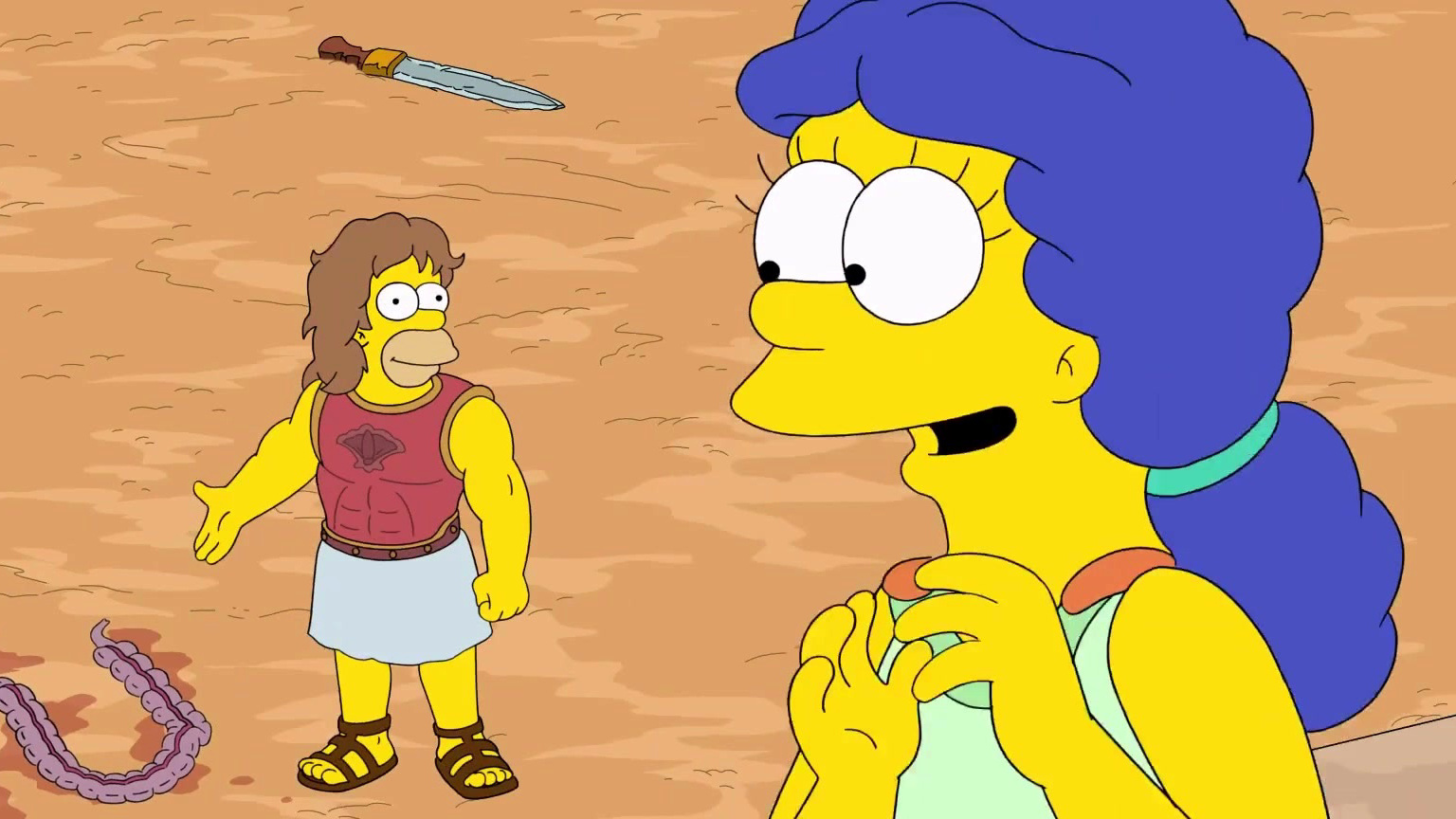 The Simpsons: A Gladiator Love Story