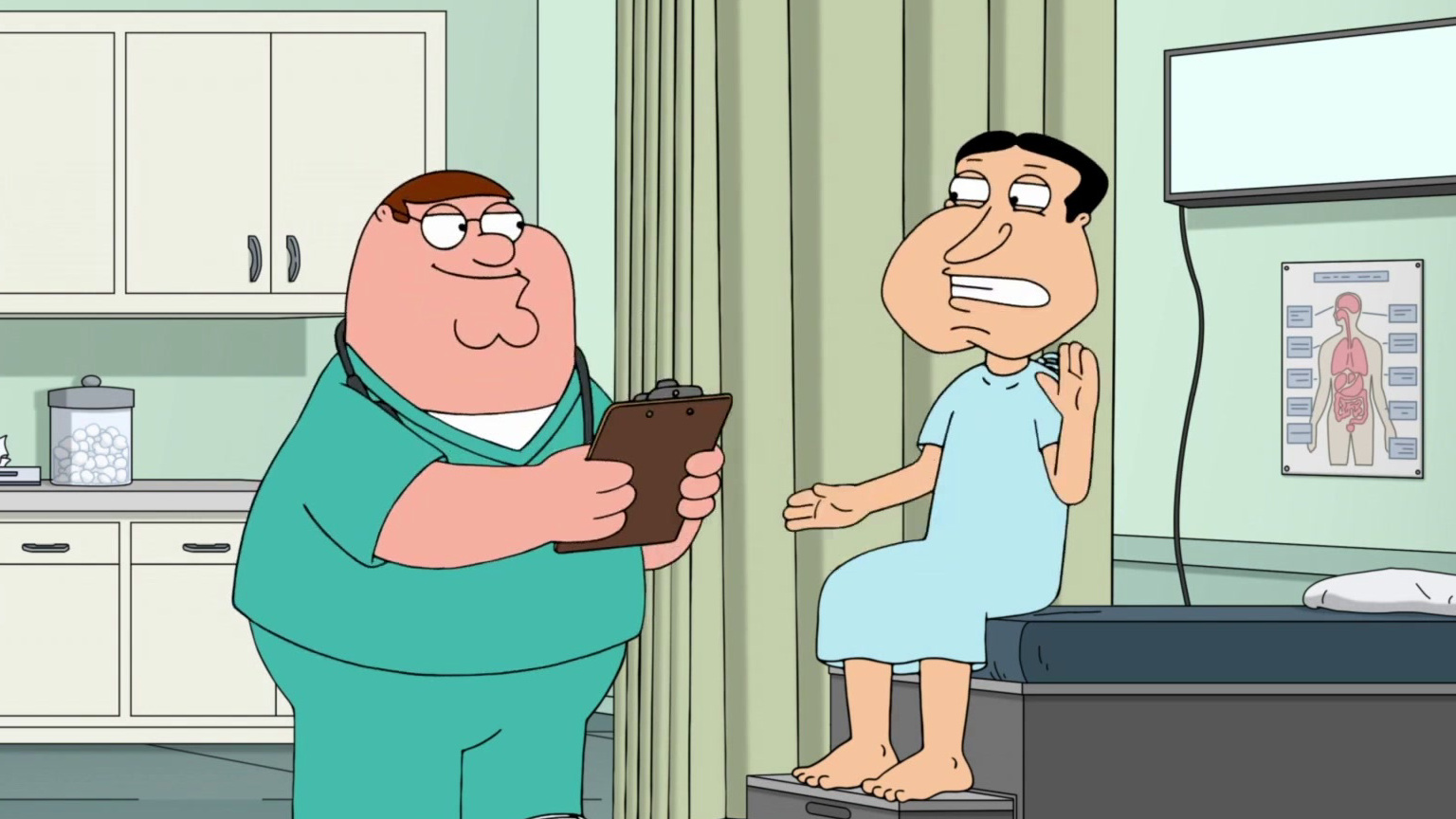 Family Guy: Quagmire Opens Up To Nurse Peter