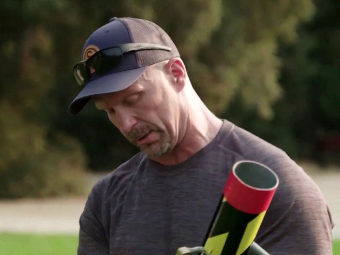 Straight Up Steve Austin: Stone Cold & Steve-O Play Fetch With Ball Launcher