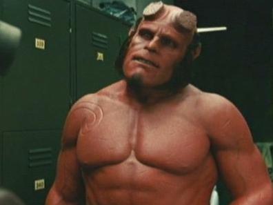 Hellboy 2: The Golden Army (Johann Smacks Red Around The Locker Room)
