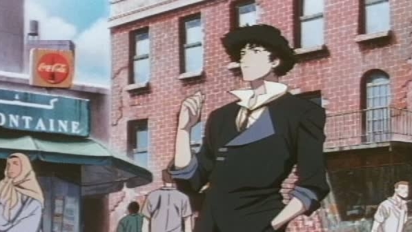 Cowboy Bebop Scene: Spike Walking The Street