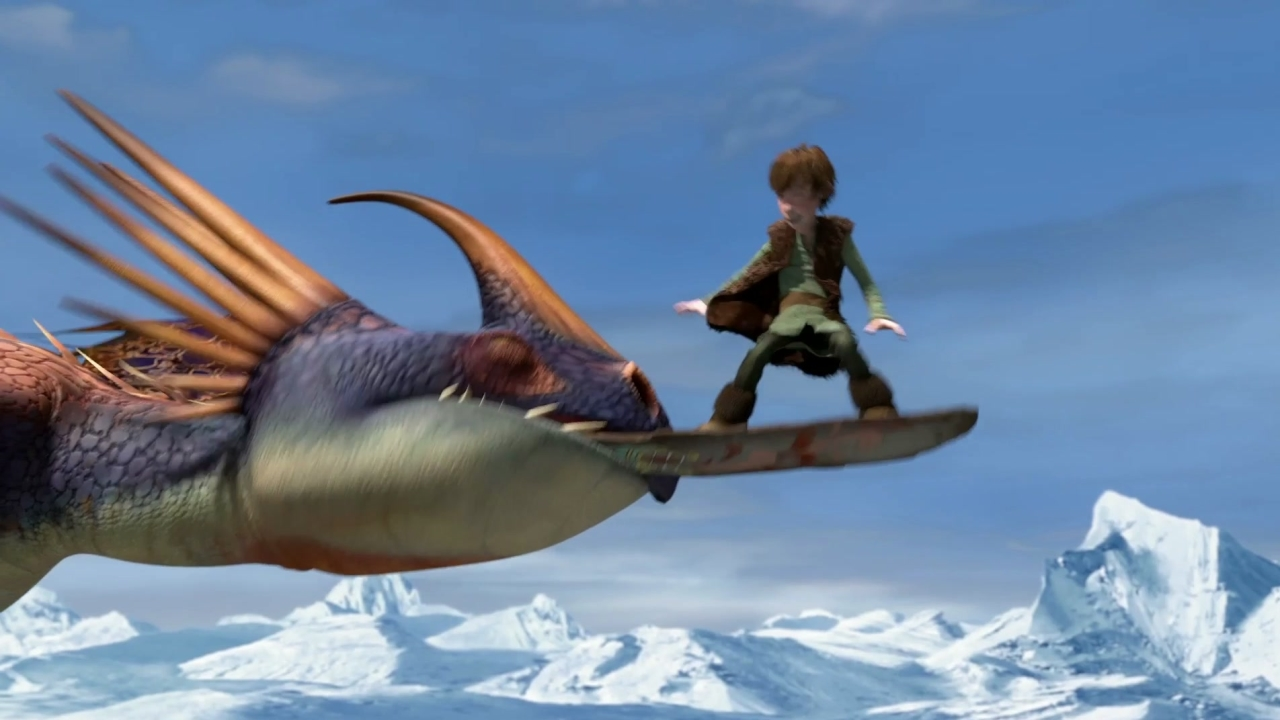 How To Train Your Dragon: Viking Games Snowboarding