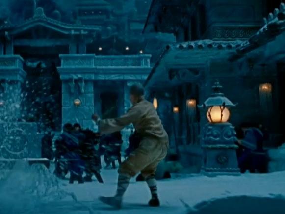 The Last Airbender: Aang Through Courtyard