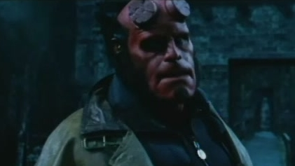 Hellboy Scene: Crumbling Bridge Escape