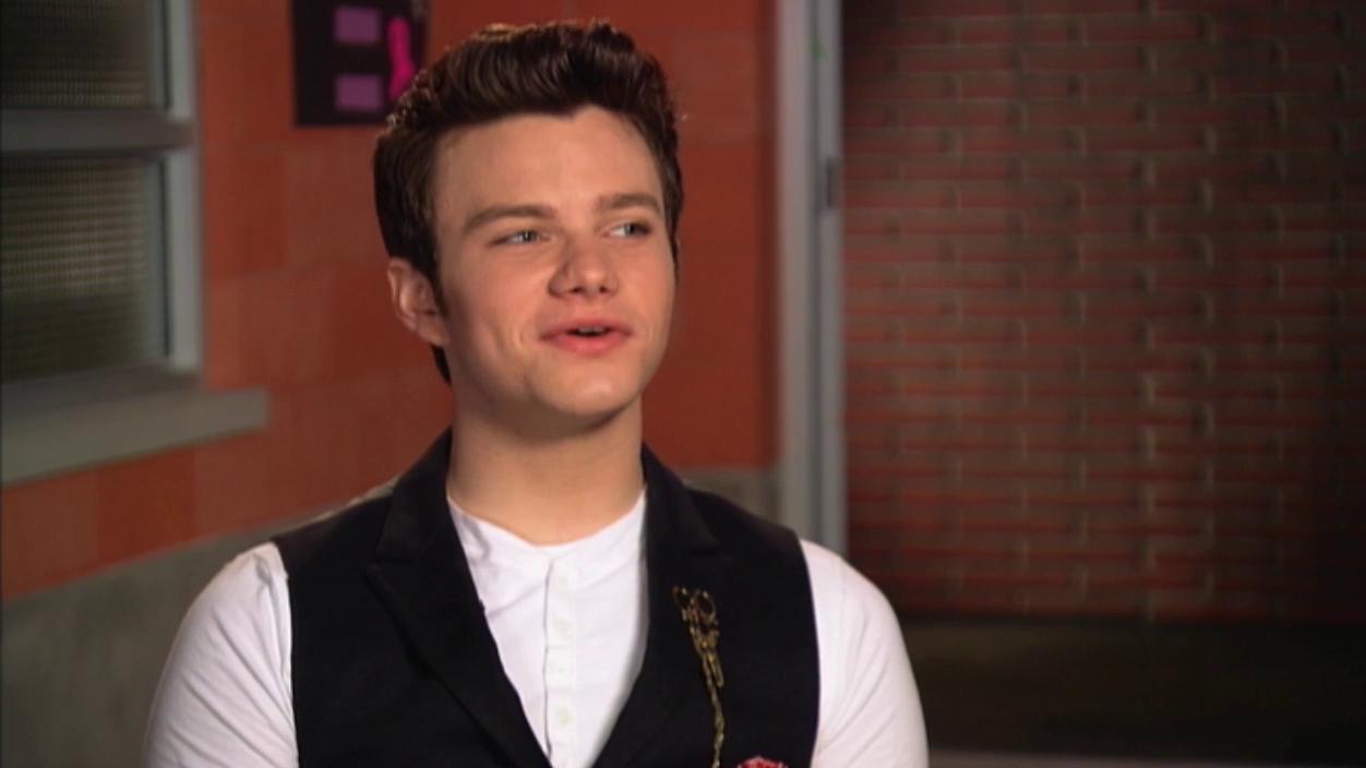 Glee: Chris Colfer On Kissing