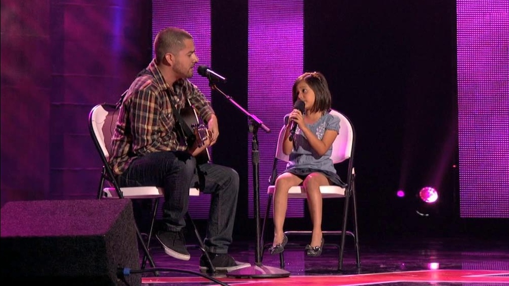 America's Got Talent: Dad And Daughter Sing
